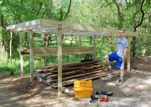 Conor with finished shed