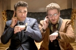 "James Franco and Seth Rogen in lame comedy ""The Interview"""